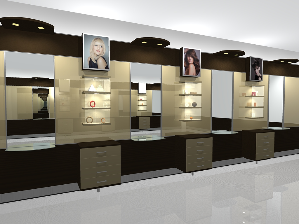 Arredamento negozio parrucchiere design roma ek